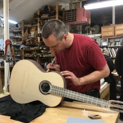 Stringed Instrument Workshop : <p>Paul H has been making a Spanish guitar has is now starting on his second project.</p>