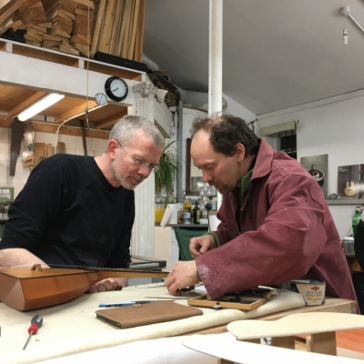Stringed Instrument Workshop : <p>Simon completed a Spanish guitar before working on renovating a balalaika.</p>