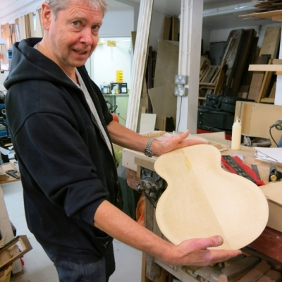 Stringed Instrument Workshop : <p>Rick is making a carved top guitar.</p>